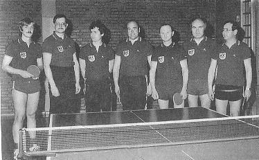 Aufstieg in 1. Kreisliga: Uwe Hohe, Bernd Urban, R. Waas, Hermann Schmidgruber, Leonhard Wolf, Gerhard Kröhn, Helmut Reichert (v.l.n.r.)